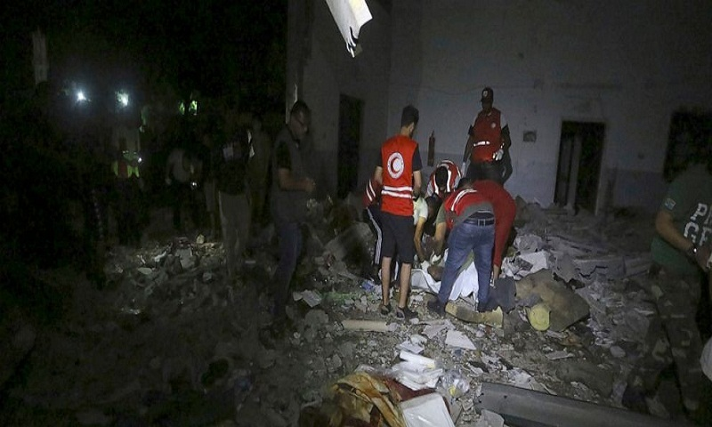 Airstrike hits migrant detention center in Libya, 44 killed