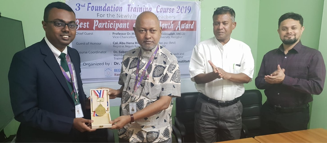 Fahim awarded as a best participant of 2nd month