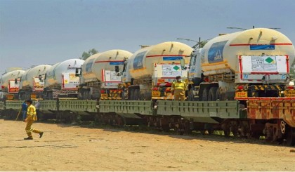 Another 'Oxygen Express' from India arrives in Bangladesh
